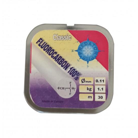 100% fluorocarbon 30м  ø 0,11 (12шт./уп.)