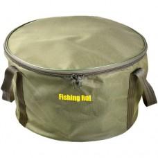 Ведро Fishing Roi с крышкой мягкое для замеса