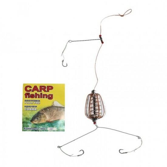 Carp Fishing Кормушка оснащенная груша некрашеная
